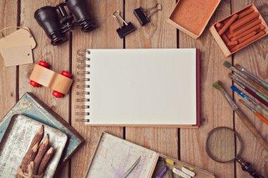 Notebook mock up for artwork