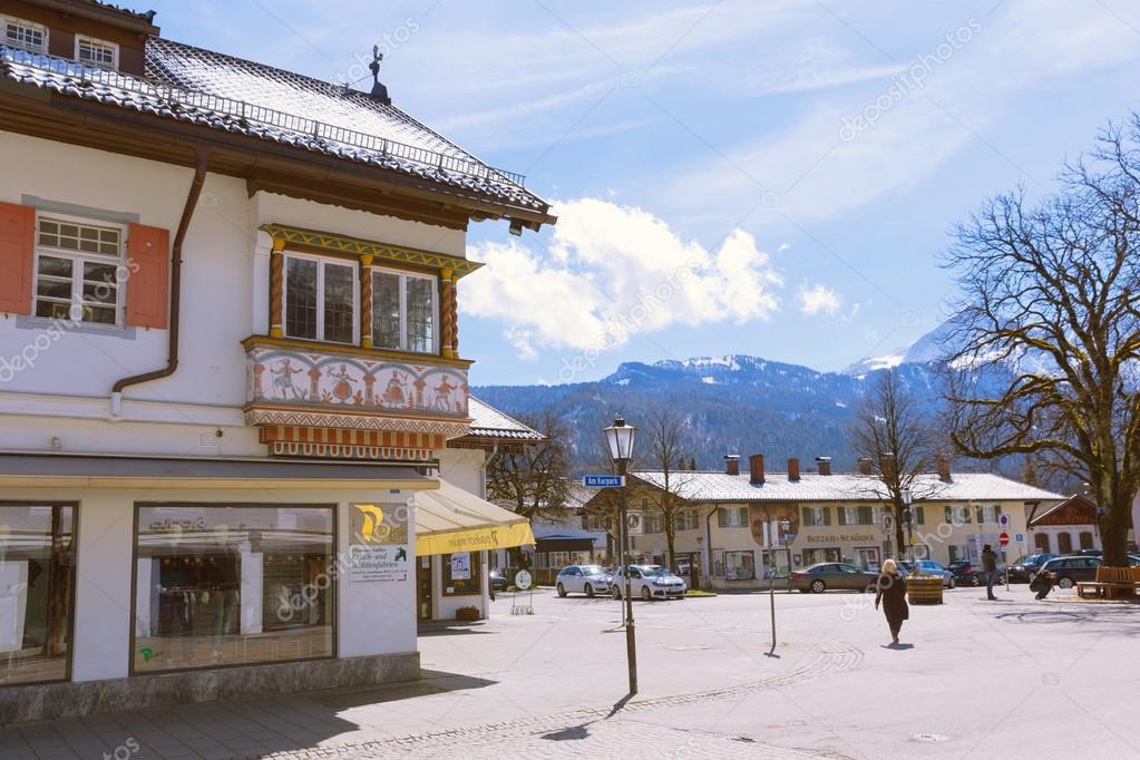 Garmisch-Partenkirchen is mountain resort town
