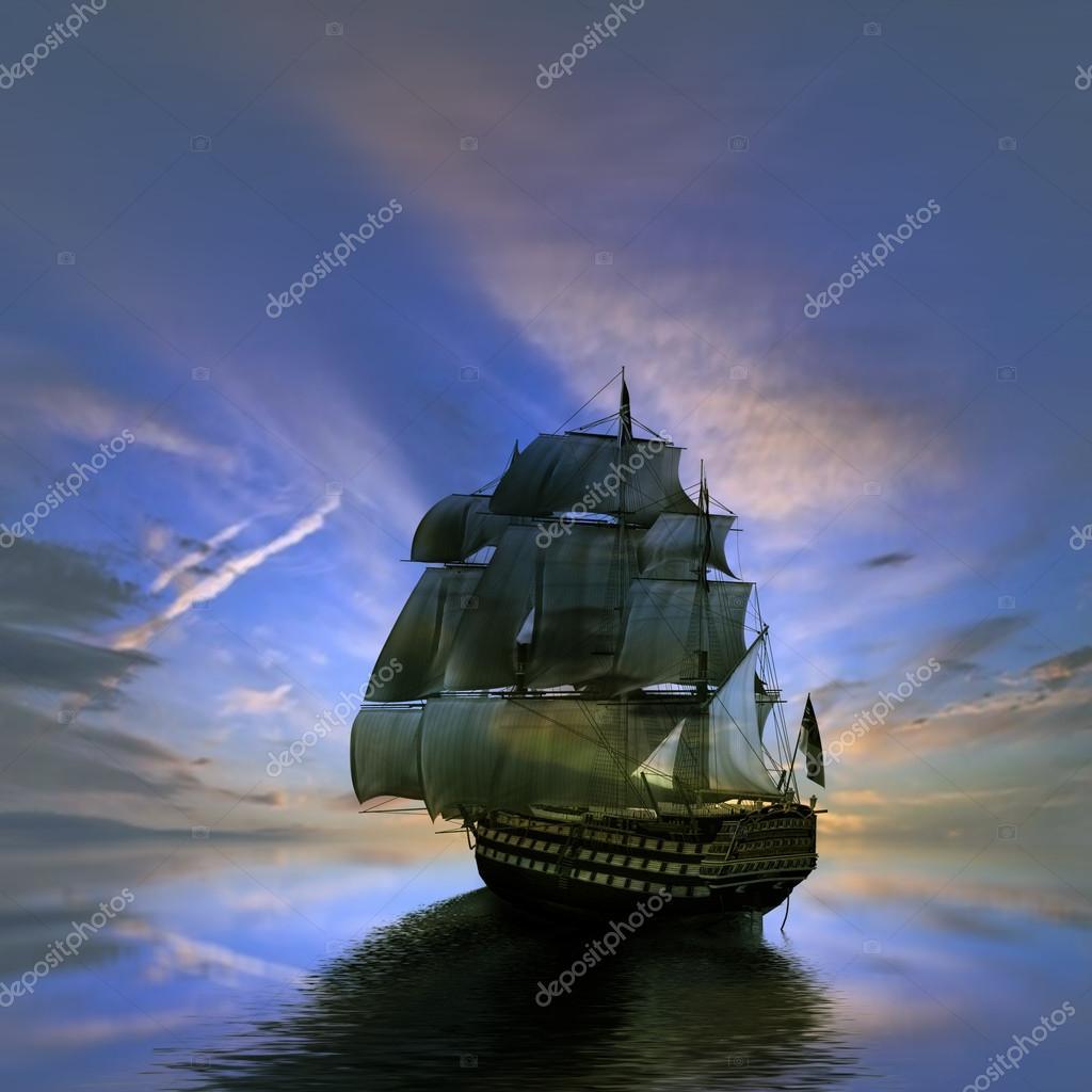 Sailboat against  beautiful landscape