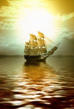 Sailboat during sunrise