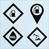 Olej nebo hořlavé ilustrace barevné pozadí