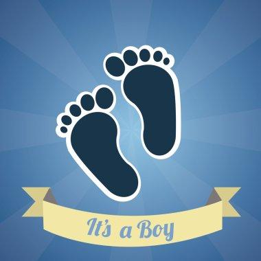 Its a boy illustration over blue color background