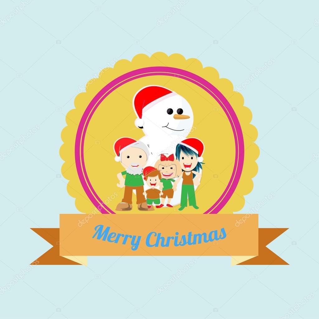クリスマス イラスト背景色上 — ストックベクター © paularigo #58620101