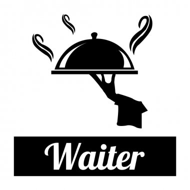 waiter illustration over white color background