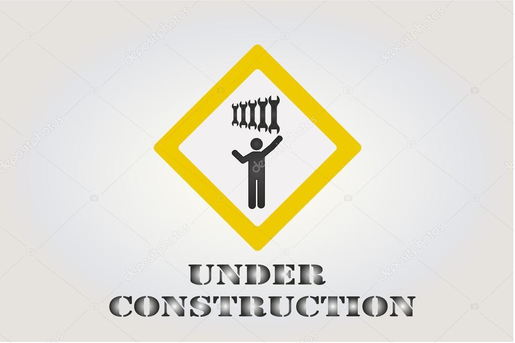 Bajo ilustración construcción sobre fondo de color — Archivo ...