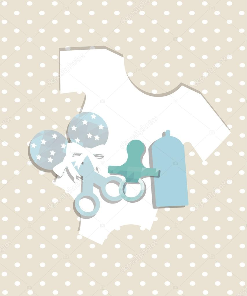 objetos para la ilustración de los bebés, chupete y mameluco en ...