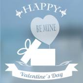Photo Valentines day, cash out heart  over blue blur background