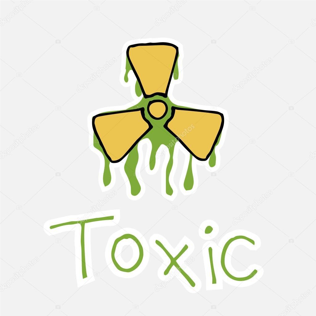 Toxic radioactivity symbol and text stock vector paularigo toxic radioactivity symbol and text over white color background vector by paularigo buycottarizona