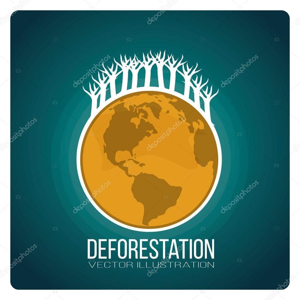 deforestación de paisajismo — Vector de stock © paularigo #98525762