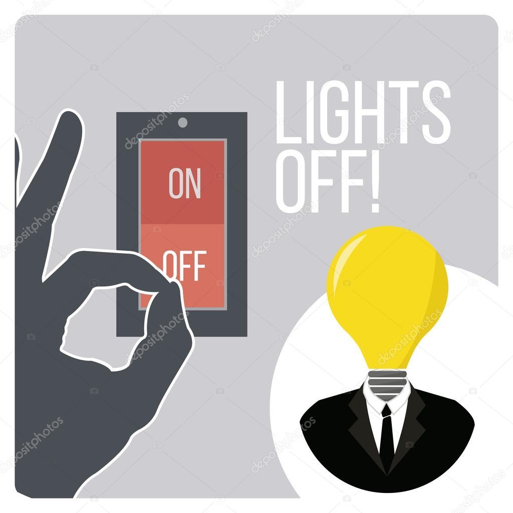 Lichter aus-Gestaltung-Schalter und Geräte — Stockvektor © paularigo ...