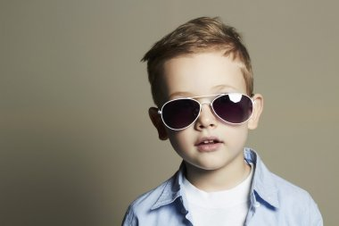Child in sunglasses.stylish little boy. fashion children