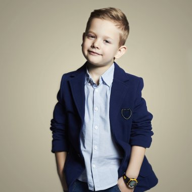 Fashionable little boy.stylish child in suit. fashion children