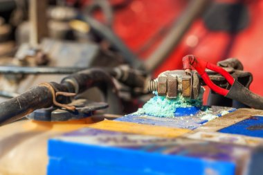 Car battery corrosion
