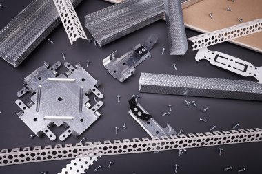 Steel profiles and fixing plasterboard