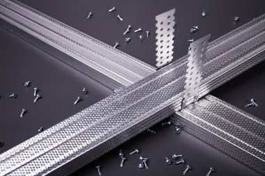 Steel profile for plasterboard