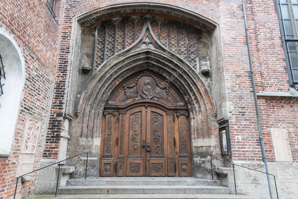 Medieval doors of famous Cathedral of Our Dear Lady on German - Frauenkirche in Munich & Medieval doors of famous Cathedral of Our Dear Lady on German ...