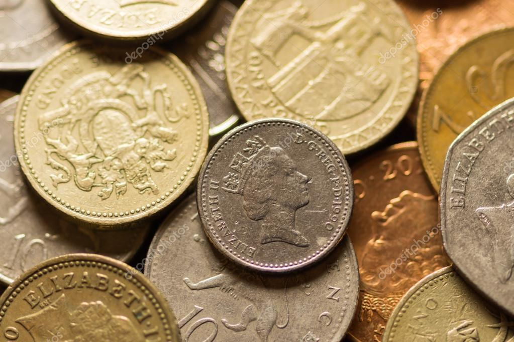 Britische Pfund Münzen Redaktionelles Stockfoto Pashamba 64986325