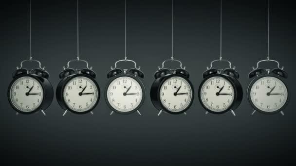 Hodiny budík 3d. Koncept času