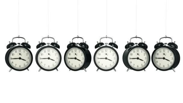 Hodiny budík 3d. Koncept času.