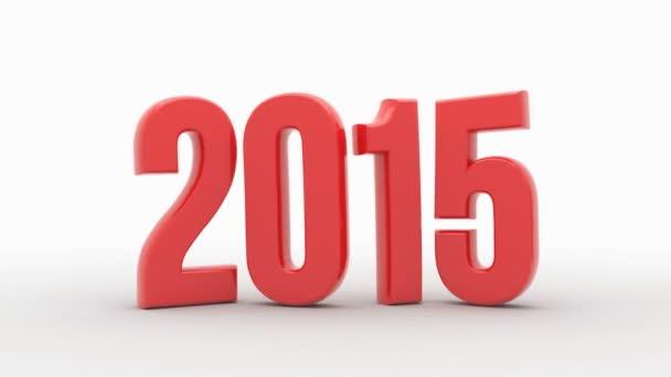 Nový rok 2016 izolovaných na bílém pozadí