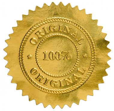 Original golden seal stamp