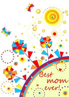 Funny applique for mom clip art vector