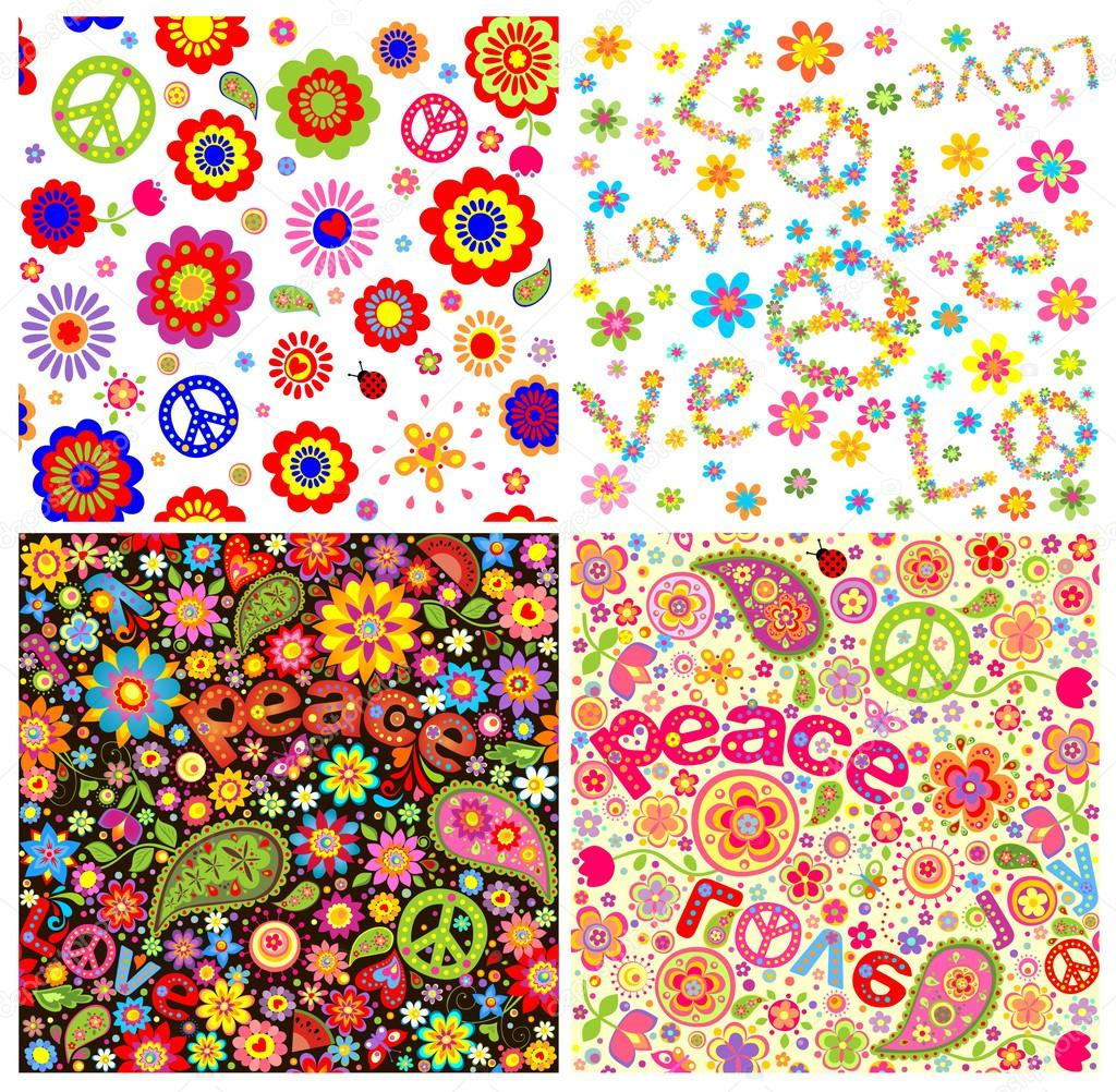 Wallpapers with hippie symbolic