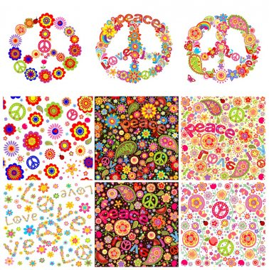 Hippie symbolic design