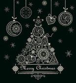 Fotografie Ozdobné krajkové vánoční přání