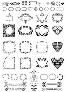 Set of vintage frames, dividers and vignette