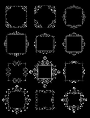 Wedding decorative frames (black and white)
