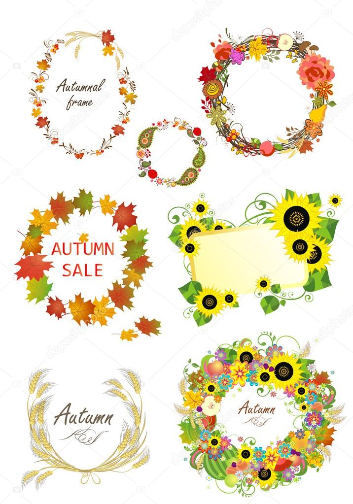 Collection of autumnal frames