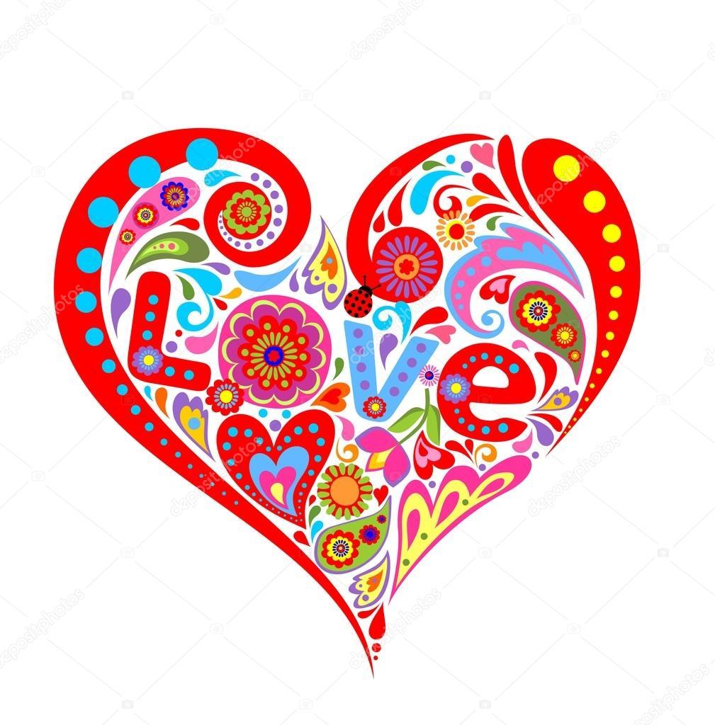 Imprimer avec coeur rouge pour saint valentin image vectorielle antonovaolena 91451396 - Coeur de st valentin a imprimer ...