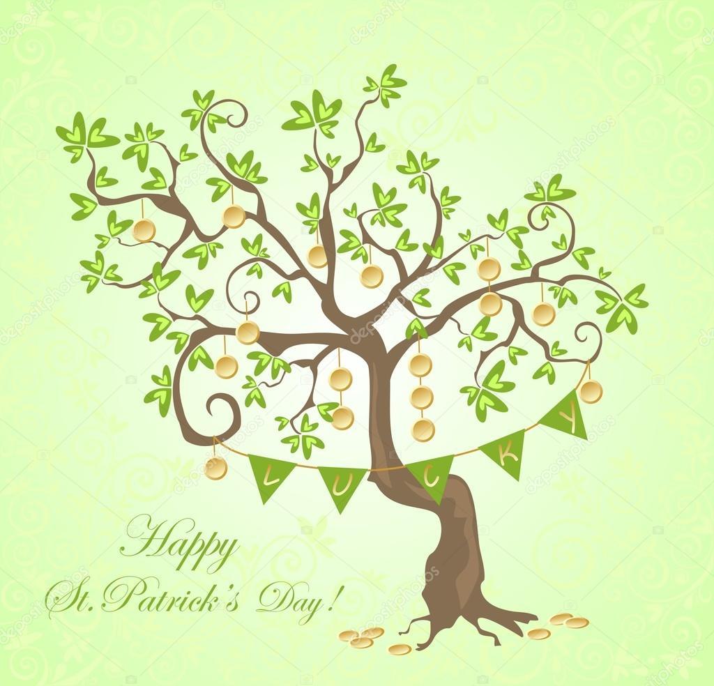 Greeting Card For St Patricks Day Stock Vector Antonovaolena