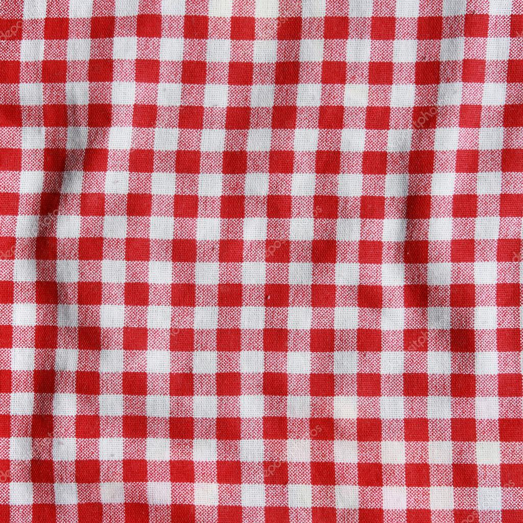 736403f6508 Texture of a red and white checkered picnic blanket. — Stock Photo ...