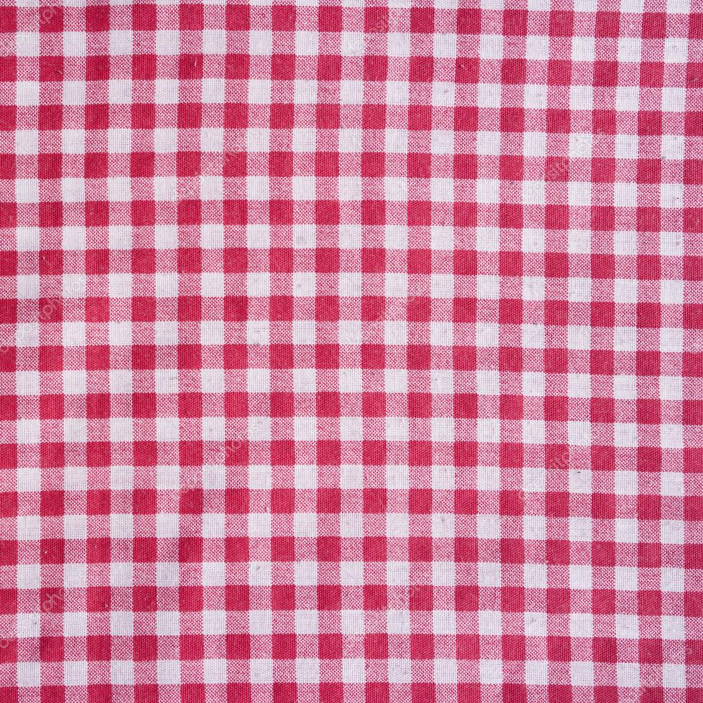 Red Picnic Tablecloth Background. U2014 Stock Photo