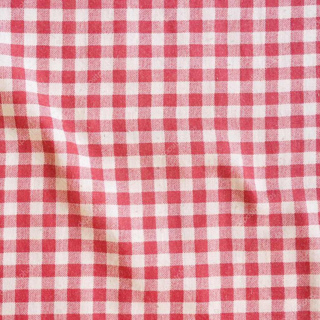 Merveilleux Red Picnic Tablecloth Background. U2014 Stock Photo