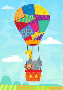 Animal In Hot Air Balloon