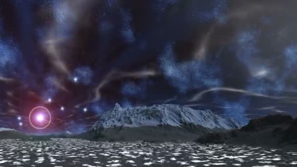 Hvězda v halo, mlhovin a mraky