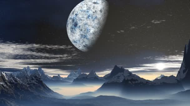A bolygó és a napkelte, a hegyek, az idegen