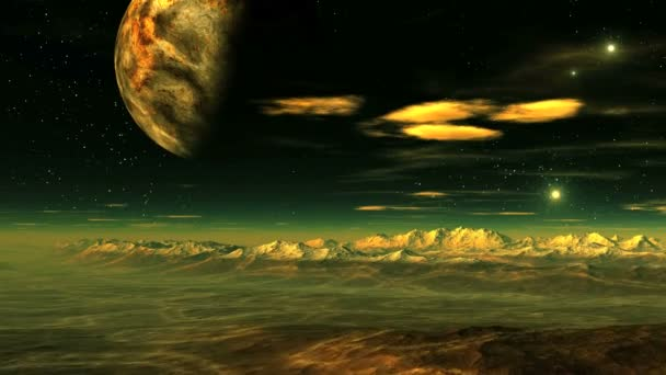 Egy idegen bolygó felett repülő