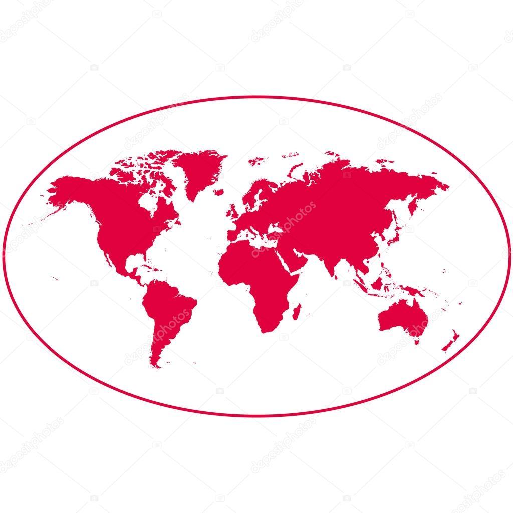 Dünya Haritası Kıta çizimi Stok Foto Tcheres 113451846