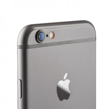 MOSCOW, RUSSIA - SEPTEMBER 26, 2014: Photo of camera iPhone 6 is a smartphone developed by Apple Inc. Apple releases the new iPhone 6 and iPhone 6 Plus