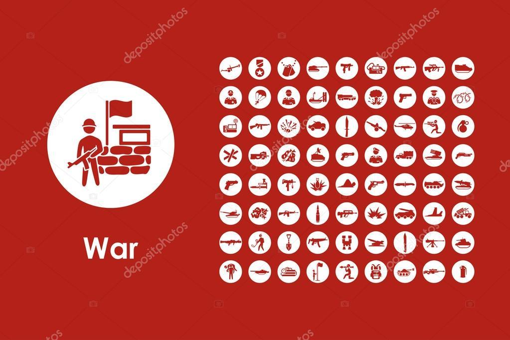 Satz von Krieg einfache Symbole — Stockvektor © Palau83 #101096626