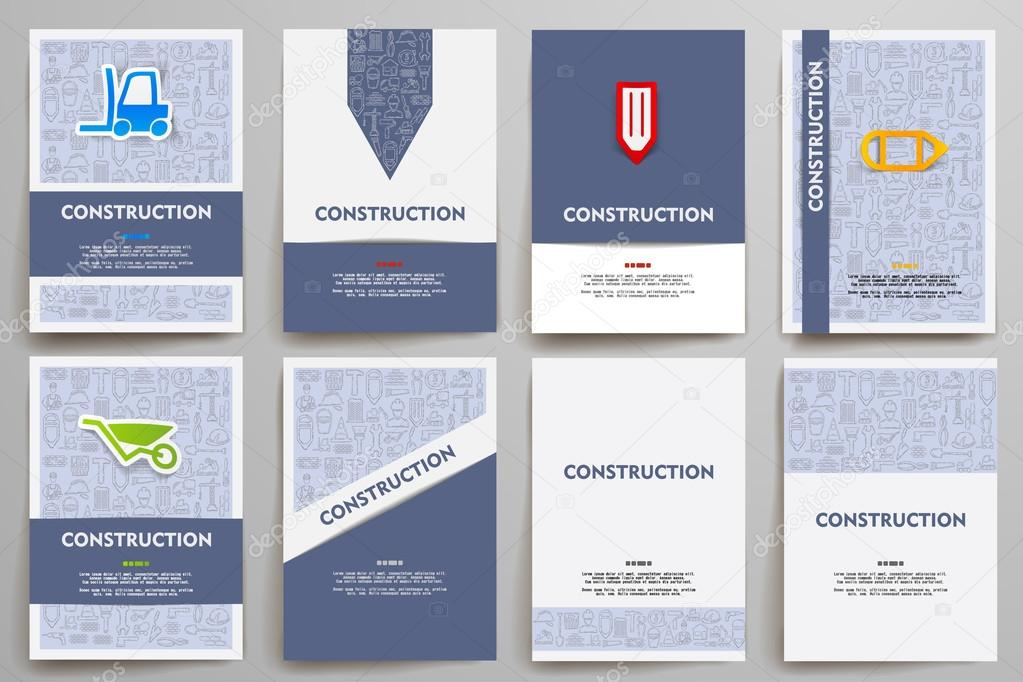 Corporate identity templates set