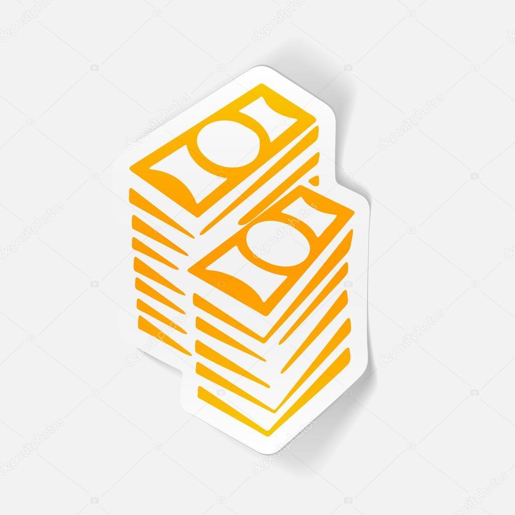bc3bb9ee54 elemento di disegno: soldi ? Vettoriali Stock © Palau83 #107468182