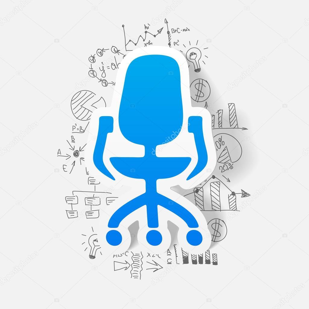 bürostuhlzeichnung zeichnung von geschäft formeln bürostuhl stockvektor palau83