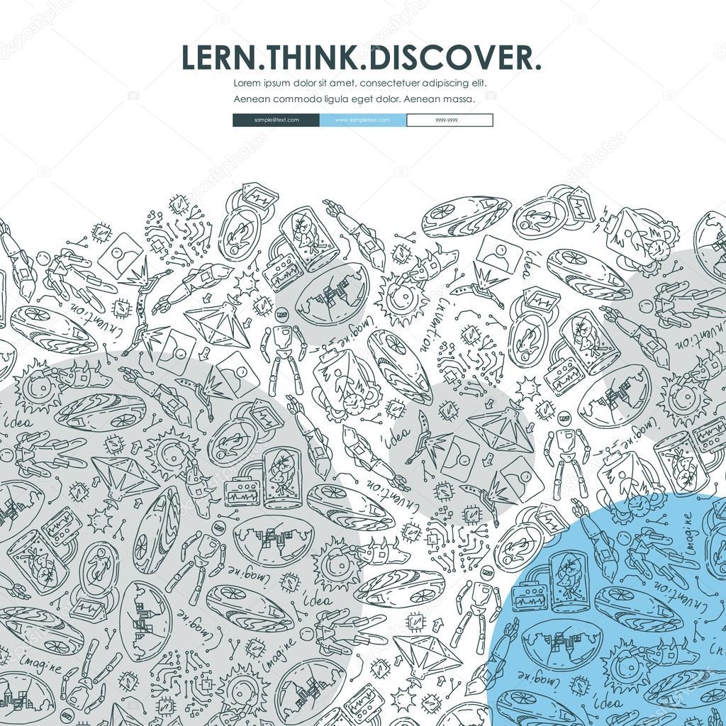 invention Doodle Website Template Design — Stock Vector © Palau83 ...