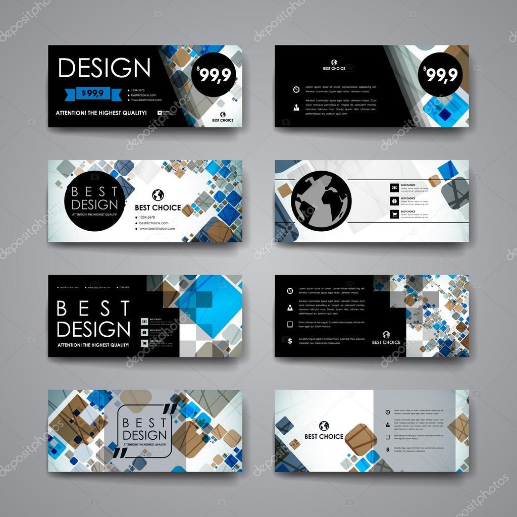 Conjunto de folletos, plantillas de diseño de cartel — Vector de ...
