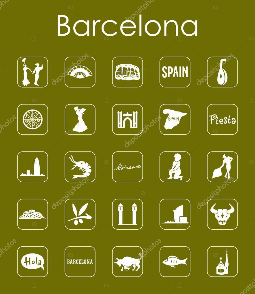 Satz von Barcelona einfache Symbole — Stockvektor © Palau83 #116978462